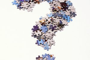 Question mark made of puzzle pieces